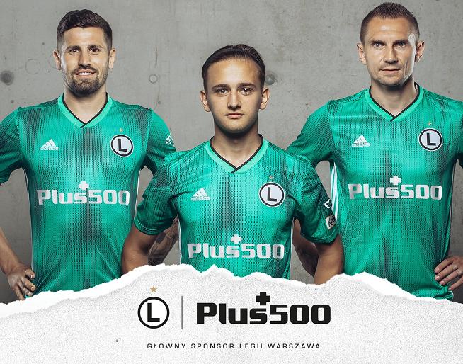Plus 500 - główny sponsor Legii Warszawa